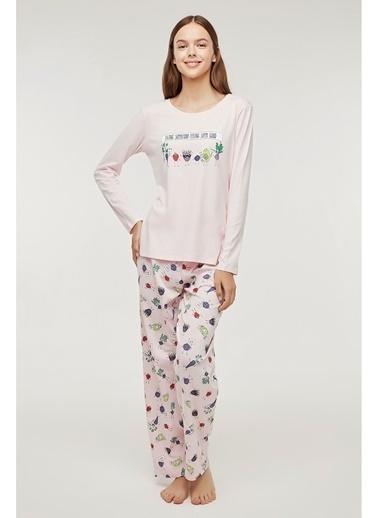 Penti Superfood Pijama Takımı Renkli